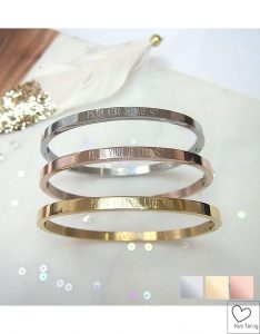 bangle met tekst