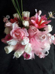 Luiertaart bloemboeket