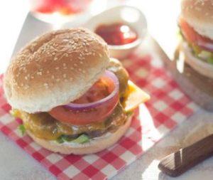 hamburger van de bbq