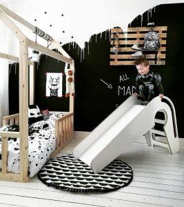 muren van de kinderkamer in zwart wit blog zomerzoen