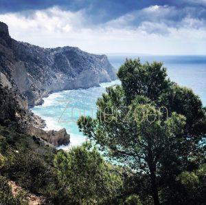ibiza zomerzoen uitzicht aan zee