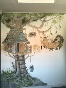 muurschildering zomerzoen V