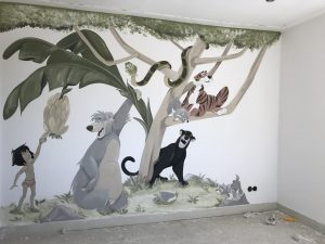 Muurschildering in de kinderkamer muren kinderkamer zomerzoen