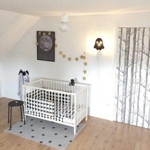babykamer trends 2019 zwart wit