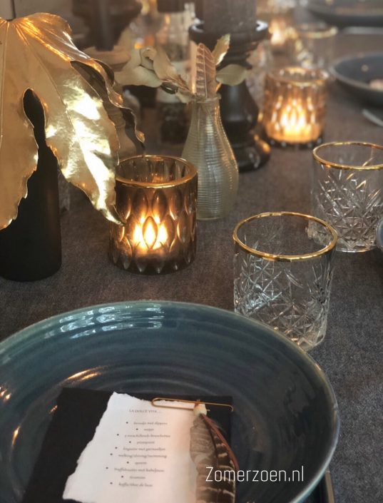 VT Wonen kersttips tafeldekking zomerzoen