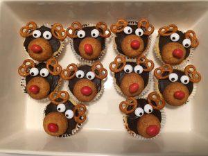 kersthapjes op school rudolph cupcakes Zomerzoen