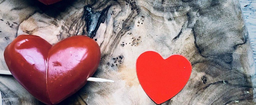 koken op Valentijnsdag tomaat