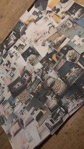 tienerkamer met een landelijke inrichting collage