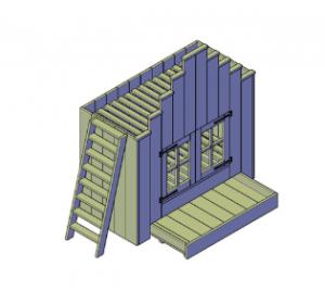 bouwtekening kinderbed vogelhuis Saartje Prum
