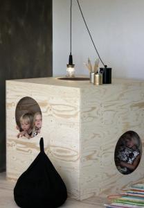 triplex kinderkamer speelhuisje