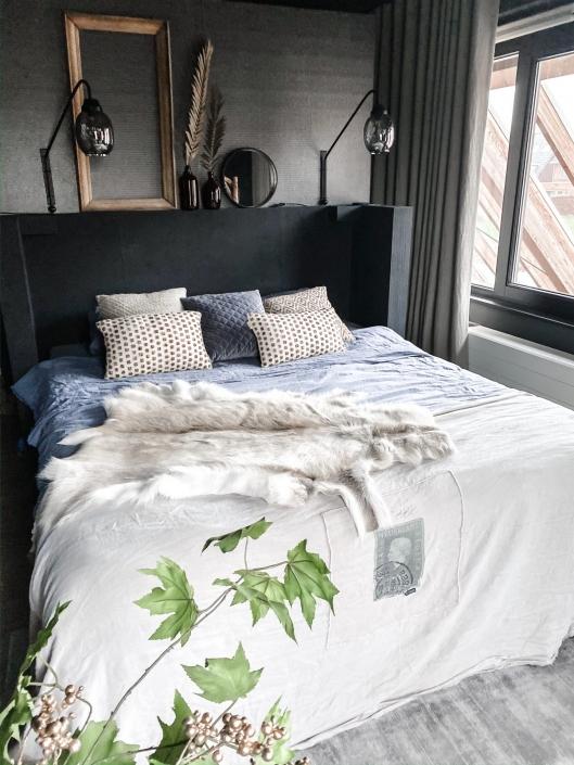 linnen gordijnen in de slaapkamer