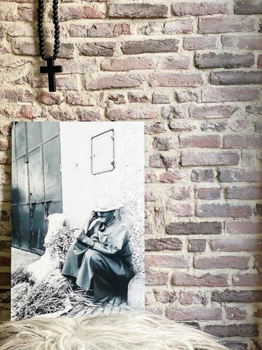 Grote foto aan de muur